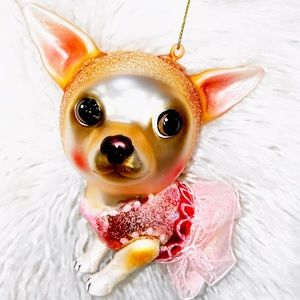 Brand new Z Gallerie Chihuahua Dog Ornament